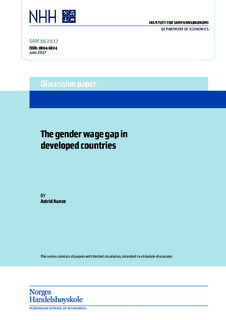 The Gender Wage Gap: Extent, Trends, and Explanations - American Economic Association
