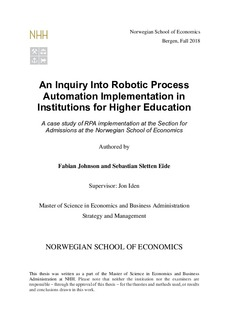 An inquiry into robotic process automation implementation in